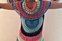 Circle vests crochet