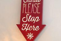 Christmas - Santa Lights / Signs