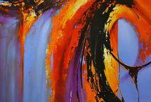 Peintures colorées