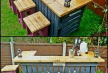 mini bars made with wood pallets
