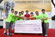 SPGG - HNC Cycling for Charity 2016 / [SPGG Event: 25 Jun 16]  A charity fundraising event, jointly organised by Singapore Polytechnic Graduates' Guild & Holland NC to raise funds for the beneficiaries of Singapore Association for the Deaf.