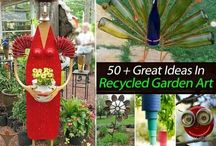 Recycled garden art... / by BevAnnWin