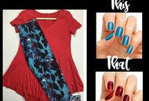 Color Street This or That / What is better than a great outfit paired with great nails!  The ease of Color Street makes it a great choice to pair with any outfit for a woman on the go!