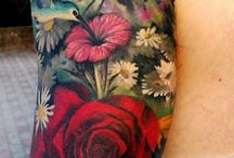 Flower tattoos / Wonderful flower tattoo ideas. Lots of colorful flowers. :)
