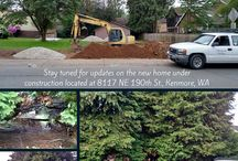 The Kenmore House / Update:  clearing the lot to get ready for excavation!     |     This is a single home under construction in Kenmore, WA.  Belmark built 8 new homes right next door so this new lot will blend into the community very nicely. Quartz counters, hardwood floors amazing kitchen appliance all coming soon so please keep in touch!  This special lot is located in hard to find property in Kenmore, WA. Follow along the process of this new home!