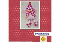 Softie toy sewing projects. / Toy sewing projects for those with a little more confidence with basic sewing skills.