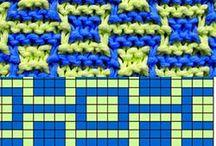 pletené mozaikové vzory