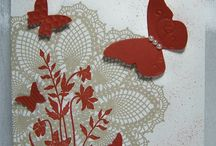 Doily cards-stampin up