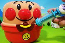 お風呂でアンパンマンおもちゃ❤バイキンマンの注射!アニメ&おもちゃ Anpanman toys