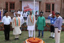 "71st Independence Day Celebration 2017 / The Celebration Ceremony of 71th #IndependenceDay of India Flag Hoisting by Hon'ble Shri Y. K. Gupta ( Pro-Chancellor, Sharda University & Vice Chairman, SGI ) on 15th August 2017. The Pro-Chancellor addressed the students about ""This historic moment of our freedom fills our heart with joy, honour and glory."
