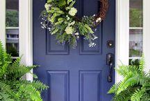 New House - blue door
