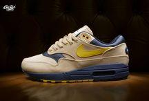 "Nike Air Max 1 Premium '93 Logo Pack' ""Elemental Gold/Mineral Yellow"""