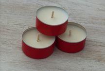 Bougies en contenant