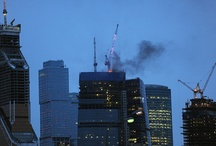 "Fire in the biggest Moscow business center ""Federation"""