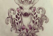 Dådyr tattoo