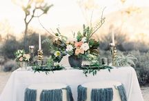 Concepts: Dusky Boho Wilds / Natural desert with minimal embellishments of skulls and succulents; oddities and feather and cactus. Moody native  desert color tones mixed with pops of deep teal and dusty blue and rose gold accents. (Ashley & Phillip)