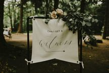 An Elegant + Enchanting Woodland Wedding / This enchanting and elegant woodland wedding is simply to die for – every moment of the day was full of lovely details! We love the welcome sign asking for ceremony witnesses and the wonderful colour palette worn by the bridesmaids.