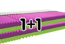 Matrace 1+1 / Cena uvedená v kategorii MATRACE 1+1 zdarma je platná pro dva kusy stejné matrace o stejném rozměru.