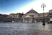 """Naples / """"Napoli, 11 gennaio 1817. Entrata grandiosa: si scende per un'ora verso il mare attraverso un'ampia strada, scavata nella roccia tenera, sulla quale la città è costruita. Solidità dei muri. Albergo dei Poveri, primo edificio. E' molto più impressionante di quella bomboniera, tanto vantata, che a Roma si chiama porta del popolo. Parto. Non dimenticherò né la via Toledo né tutti gli altri quartieri di Napoli; ai miei occhi è, senza nessun paragone, la città più bella dell'universo."""" - Stendhal"""