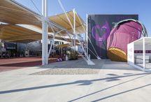 Wine Pavillion - Expo 2015 / Ancoraggi strutturali e impermeabilizzazioni con Mapefill, Aquaflex Roof HR, Mapepur, Mapeband SA, Mapelastic Turbo