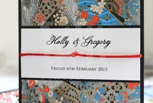 Patterned Paper Invitations