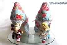 Alice in Wonderland Sculpted heels - Elusive Rabbit