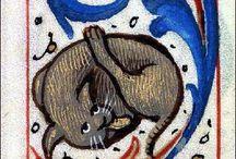 keskiaikaeläimiä