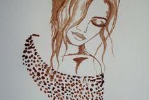 Coffee Painting / Coffee Painting art showroom