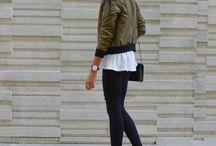 Khaki Bomber Jacket Outfits Winter