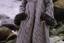dzierganie płaszcze i swetry