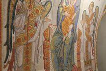 Мозаики в нижнем храме Дивеевского монастыря.