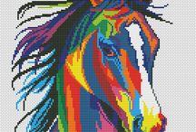 animaux multicolor