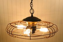 bright lights - recycled! / Let this collection of recycled and repurposed lights, lamps, and chandeliers light up you life!