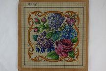Antique/vintage  wool work patterns. / Antique needlepoint charts/patterns. Berlin wool work pattern. Vintage pattern.