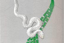 Jewellery Rendering / Hand Sketches / Hand drawn jewellery designs