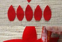 textil virág készítés