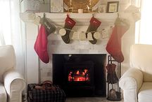 The Corner Cottage Journal: Warm up a fireplace with DIY shiplap