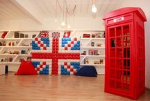 London Themed Birthday Party / London Theme Birthday Party England Queen Union Jack Flag cupcakes cakes cake cake pops decorations flowers theme bus car big ben telephone booth red blue white