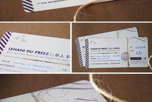 Wedding {boarding pass invites}