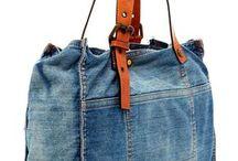 jeans y cuero reciclado