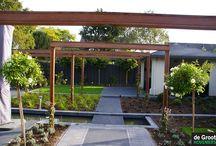 Pergola / Een pergola geeft diepte aan een tuin en zorgt voor een 'dak in de tuin. Hoogte creëren is een belangrijk element in de tuin. Een begroeide pergola kan ook privacy geven en inkijk van buren voorkomen.