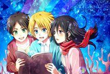 Shingeki no Kyojin; Eren, Mikasa, Armin (Shiganshina trio)