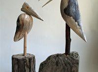 Drift wood birds