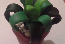 Plantas porcelana / Plantas, cactus, floreros de porcelana etc