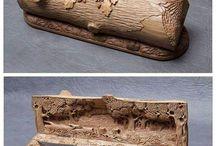 Em madeira