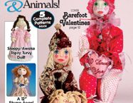 Dolls in Magazines / Dolls in magazines, some including patterns