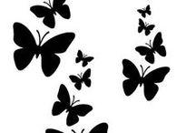 stencils, vectors, silhouettes
