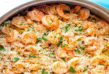 Linguine aux crevettes et parmesan