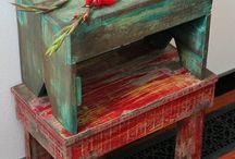 Табурет,сундук,сарайчик из палет( своими руками)