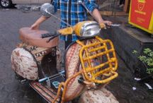 Vespa Batik / vespa P tipe 150s 150cc airbrush batik